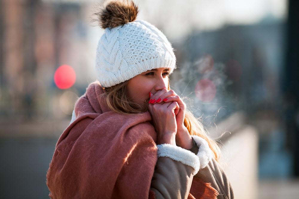 mujer frío